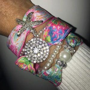 Jewelry - Starfish Ribbon Bracelet Set
